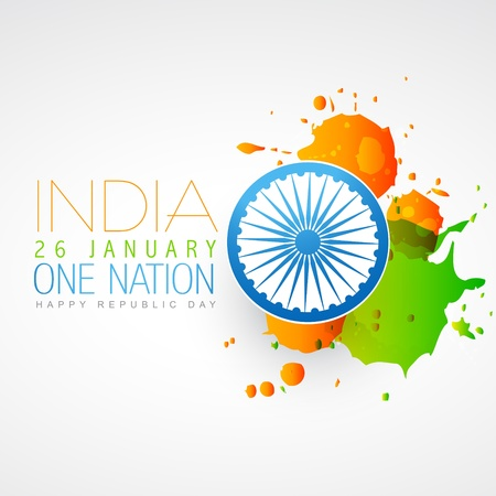 republic day: indian flag vector creative design