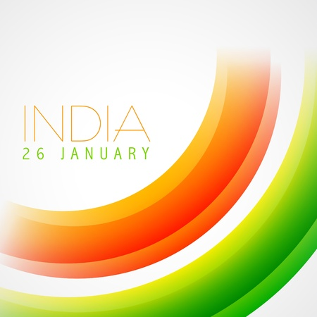 stylish indian flag vector design Vector