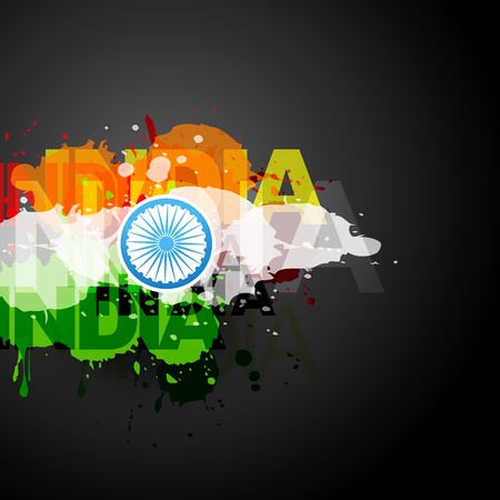 bharat: vector creative flag of india Illustration