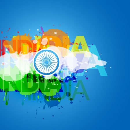 stylish vector indian flag design Vector