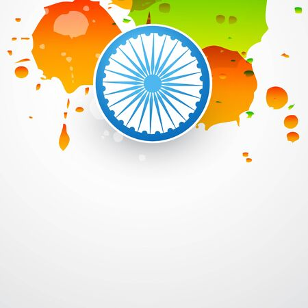 vector grungy illustration of indian flag Vector
