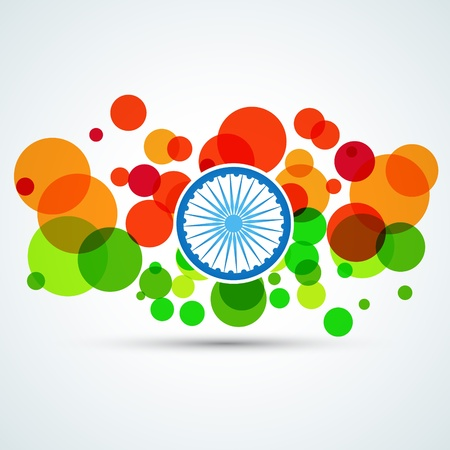 vector creative flag of india Stock Vector - 17234038