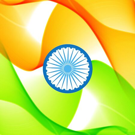 beautiful wave style vector indian flag Vector