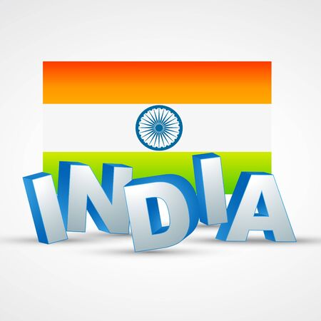 bharat: vector indian flag with text