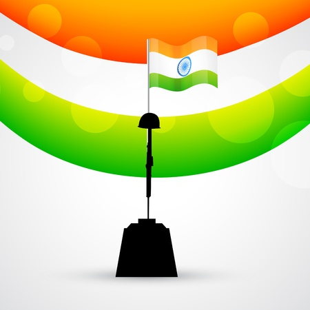 vector indian patriotic design with flag Vector