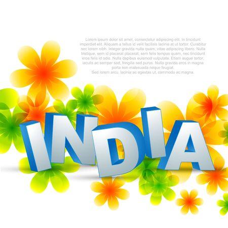creative indian design illustration background Vector