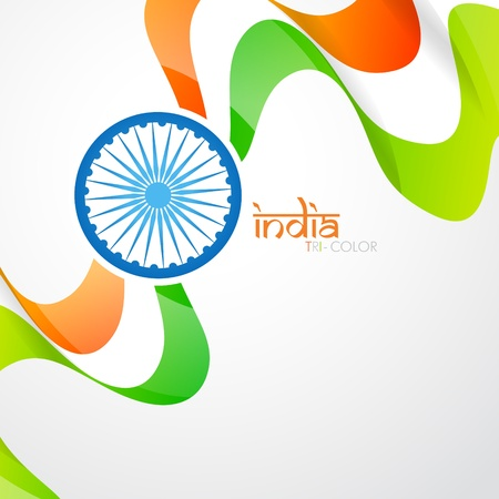 aug: vector indian flag design with space for your text Illustration