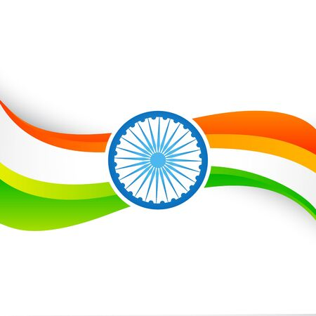 republic day: wave style indian flag design