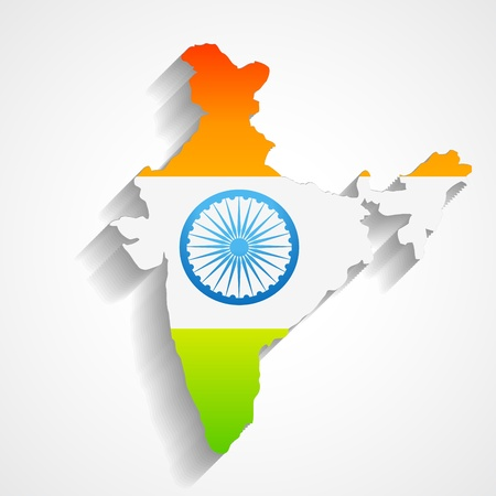 map of india with flag design Vector