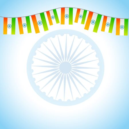 indian flag background with space for your text Vector