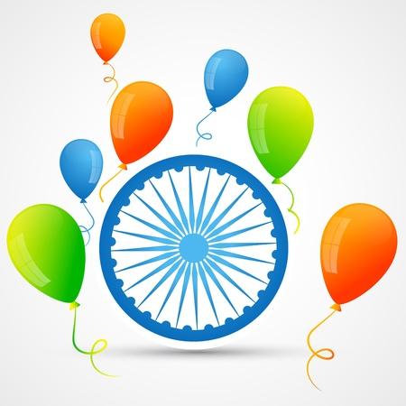 balloon vector: vector indian flag design with balloon