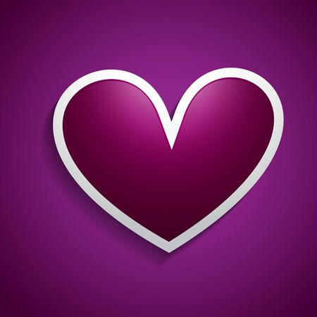 vector heart design background illustration Stock Vector - 17727657