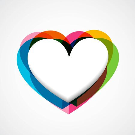 colorful funky vector heart design Stock Vector - 17727658