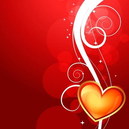 beautiful shiny heart valentine day background Stock Vector - 17727663
