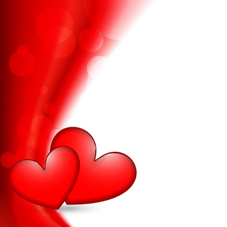 stylish valentine day heart background design Stock Vector - 17727668
