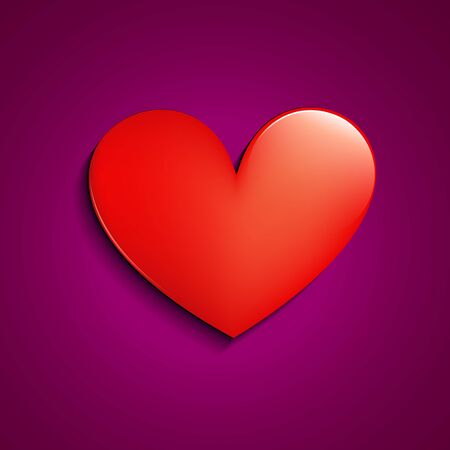 stylish simple vector red heart design Stock Vector - 17727659