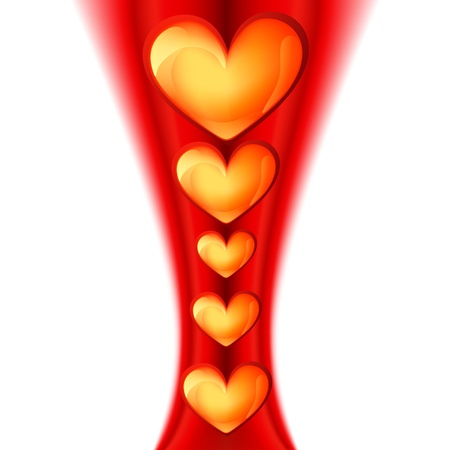 stylish beautiful heart design background Stock Vector - 17727672