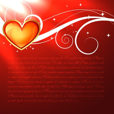 illustration of beautiful red heart Stock Vector - 17727773