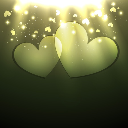 stylish valentine day heart background design Vector