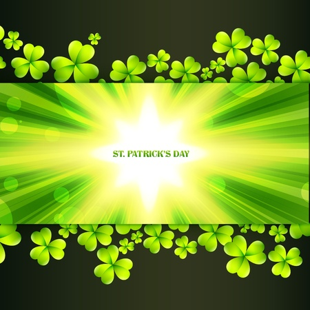 st patrick's day greeting with space for your text Stock Vector - 17988032