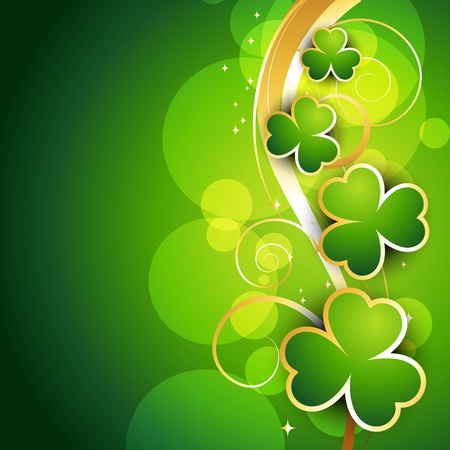shiny st patrick's day vector illustration Stock Vector - 17988055