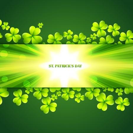 beautiful st patrick's day shamrock leafs Stock Vector - 17988047