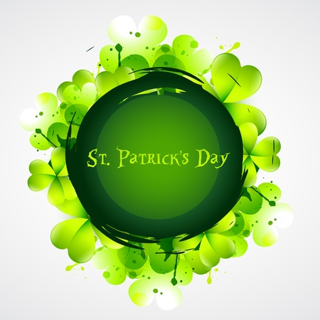 beautiful green st patrick's day shamrock leafs Stock Vector - 17988125
