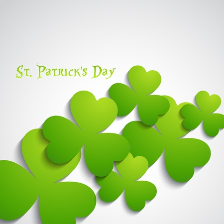 st patrick's day leafs vector background Stock Vector - 17988031