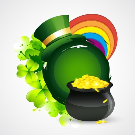 irish background: vector beautiful st patricks day design with space for your text
