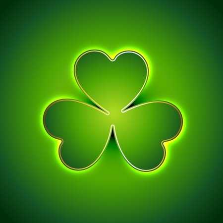 beautiful green shamrock leaf st patrick's day background Vector
