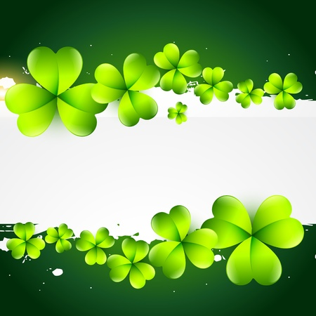 beautiful green st patrick's day background with space for your text Stock Vector - 17988113