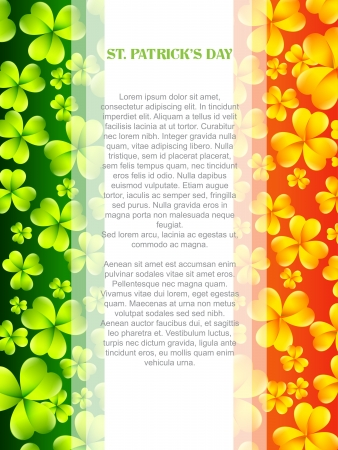 vector saint patrick's day design with irish flag Vector