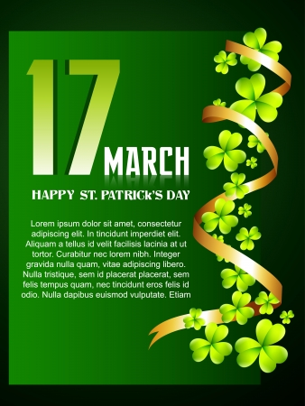 beautiful green st patrick's day background with space for your text Stock Vector - 17988118