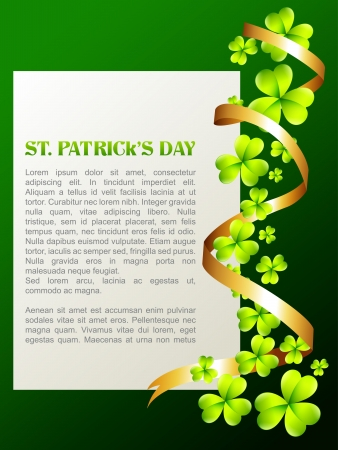 shiny st patricks day vector illustration Illustration
