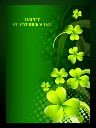 beautiful green shamrock leaf st patricks day background Vector