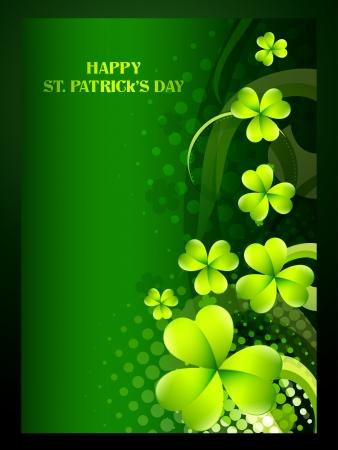 beautiful green shamrock leaf st patrick's day background