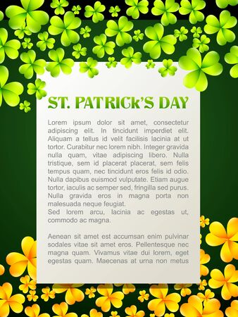 vector saint patrick's day design illustration with ireland flag Stock Vector - 17988151