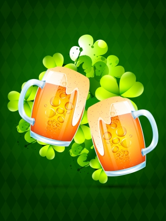 vector beer mug for saint patrick's day Stock Vector - 17988161