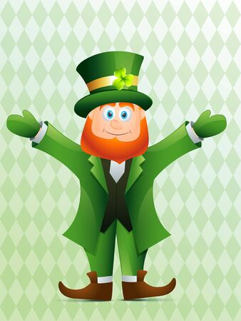 vector leprechaun cartoon saint patricks day background Vector