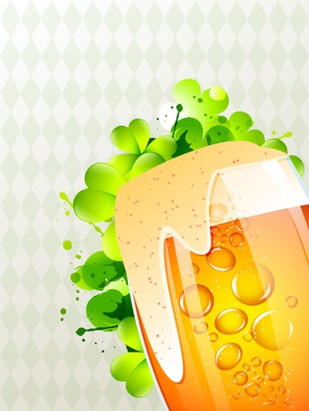 beautiful vector saint patrick's day design with mug of beer Vector