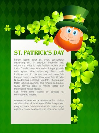 vector happy leprechaun cartoon illustration Vector