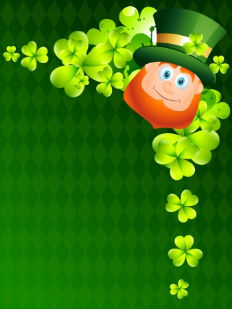 beautiful happy leprechaun cartoon illustration Vector