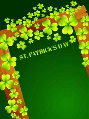 stylish saint patrick's day background with space for your text Stock Vector - 17988147