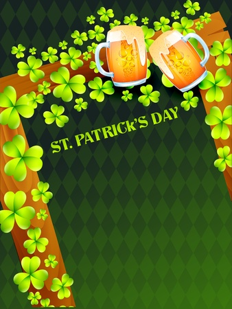 vector saint patrick's day design with beer Vector