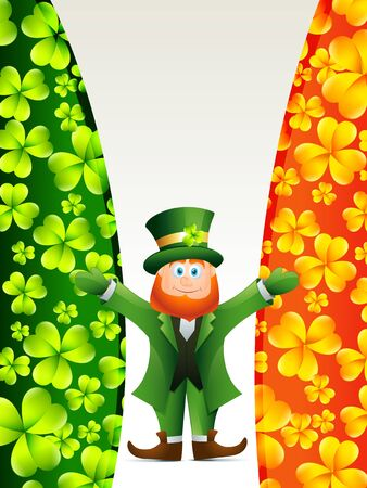 vector happy leprechaun cartoon illustration Stock Vector - 17988150