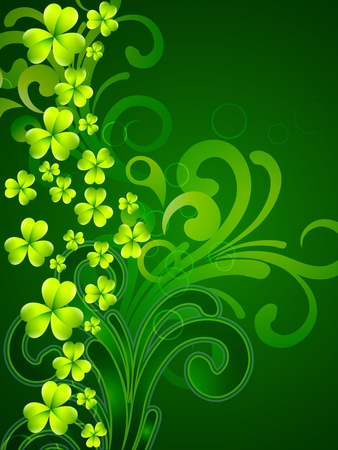 shiny st patrick's day vector illustration Vector