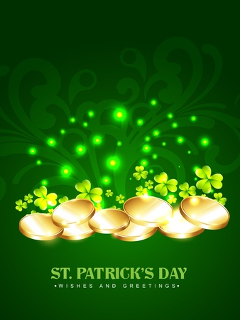 vector golden coins saint patrick's day design Stock Vector - 17988084