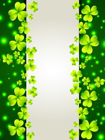 beautiful green st patrick's day background with space for your text Stock Vector - 17988152