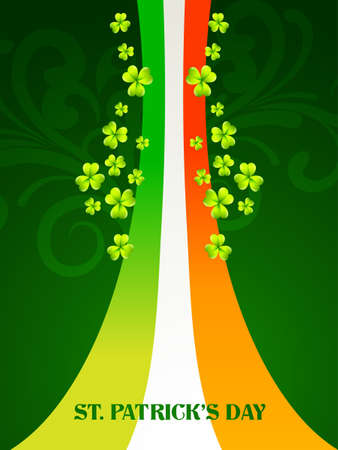 vector saint patrick's day design illustration with ireland flag Stock Vector - 17988065