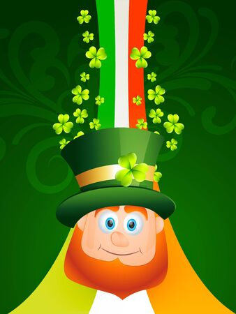 vector smiling leprechaun saint patricks day illustration Vector